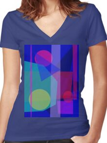 Rain in the Afternoon Women's Fitted V-Neck T-Shirt
