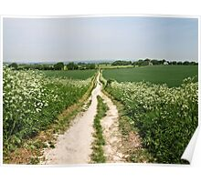 The Road to Windover Hill, East Sussex Poster