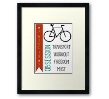 Bicycle obsession Framed Print
