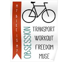 Bicycle obsession Poster