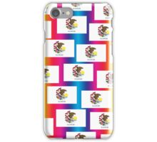 Smartphone Case - State Flag of Illinois - Patchwork Rainbow iPhone Case/Skin