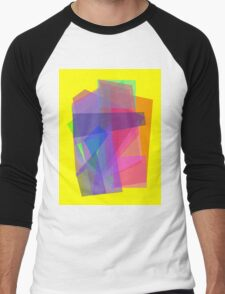 Transparency Yellow Men's Baseball ¾ T-Shirt