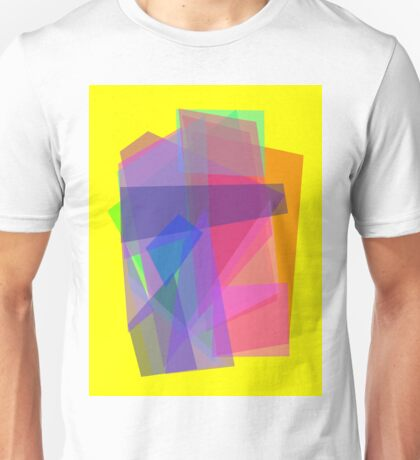 Transparency Yellow Unisex T-Shirt