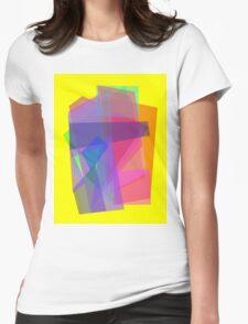 Transparency Yellow Womens Fitted T-Shirt