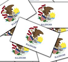 Smartphone Case - State Flag of Illinois - Multiple by Mark Podger