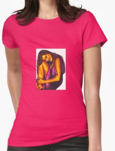 Joy - girl  happy and in love Womens Fitted T-Shirt