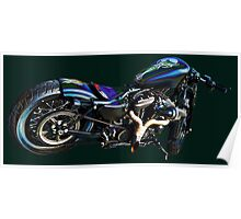 Blue Bike Lacquered Poster