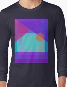 Setting Sun behind the Mountain Long Sleeve T-Shirt