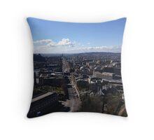 Castle Hill from Calton Hill. Edinburgh.  Throw Pillow