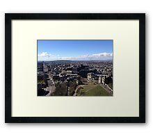 Princes Street, from Calton Hill. Edinburgh Framed Print