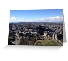 Princes Street, from Calton Hill. Edinburgh Greeting Card