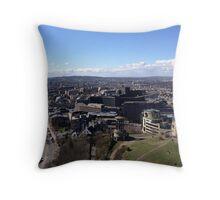 Princes Street, from Calton Hill. Edinburgh Throw Pillow