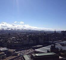 A view to the Pentland hills from Calton hill. Edinburgh #1 by LBMcNicoll
