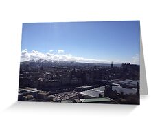 A view to the Pentland hills from Calton hill. Edinburgh #1 Greeting Card