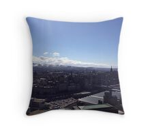 A view to the Pentland hills from Calton hill. Edinburgh #1 Throw Pillow