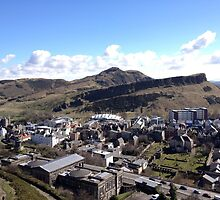 View from Calton Hill toward Arthur's Seat,  Edinburgh by LBMcNicoll