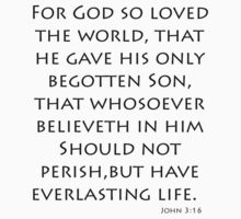 John 3:16 - King James (Bible Verses) Kids Tee