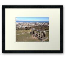 View of the National Monument of Scotland, Calton Hill.  Edinburgh Framed Print