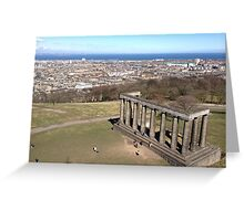 View of the National Monument of Scotland, Calton Hill.  Edinburgh Greeting Card