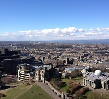 View from the Nelson Monument, Calton Hill, Edinburgh by LBMcNicoll