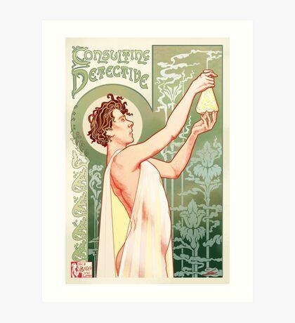 Absinthe Sherlock Art Print