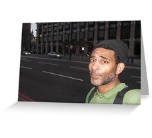 Self-portrait/London -(050513)- Digital photo/FujiFilm FinePix AX350 Greeting Card