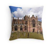 Springtime at Melrose Abbey, the Scottish Borders #2 Throw Pillow