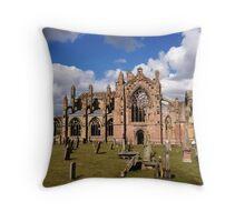Springtime at Melrose Abbey, the Scottish Borders #1 Throw Pillow
