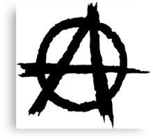 Anarchy Symbol Canvas Print