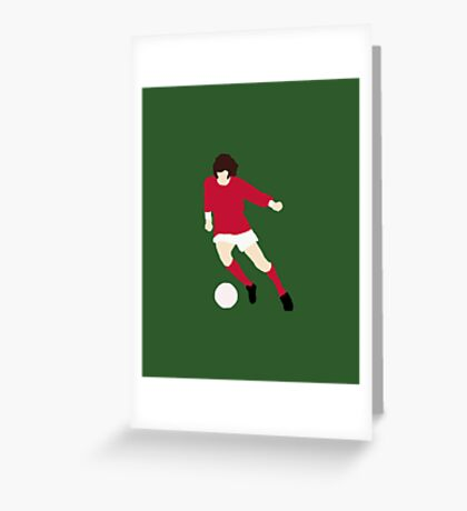 Minimalist George Best design Greeting Card