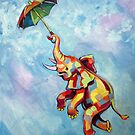 Umbrella Elephant by Ellen Marcus