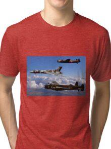 Avro Vulcan and Lancasters Tri-blend T-Shirt