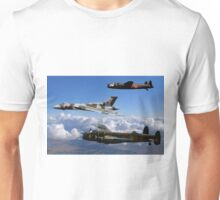 Avro Vulcan and Lancasters Unisex T-Shirt
