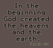 Genesis 1:1 (Bible Verses) One Piece - Short Sleeve