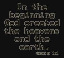 Genesis 1:1 (Bible Verses) Kids Clothes