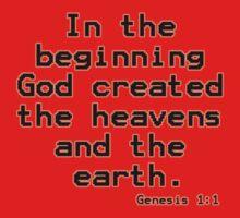 Genesis 1:1 (Bible Verses) Kids Tee