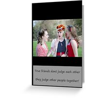 Vintage Girls Picnic- Friends Greeting Card