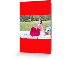 Vintage Girls Picnic- Relax Greeting Card