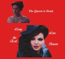 The Queen is Dead (dark) Kids Tee