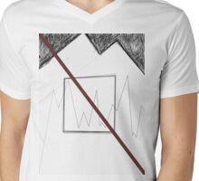 Minimal Illustration designs I Mens V-Neck T-Shirt