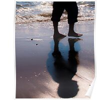 Man walking on the sand Poster