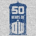 50 years of Doctor Who by saniday