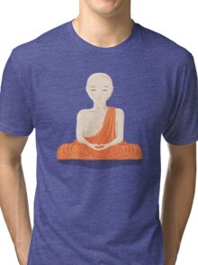Young Monk in the Forest Tri-blend T-Shirt
