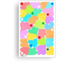 PASTEL COLORS ART Canvas Print