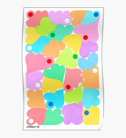 PASTEL COLORS ART Poster