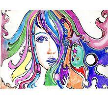 Rainbow Locs Photographic Print