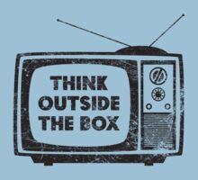 Think Outside The Box! (black) by KRDesign