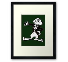 Excited Cute Cartoon Frog Wearing A Tuxedo Framed Print