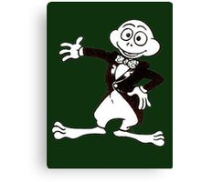 Excited Cute Cartoon Frog Wearing A Tuxedo Canvas Print
