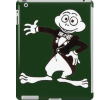 Excited Cute Cartoon Frog Wearing A Tuxedo iPad Case/Skin